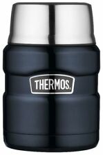 Thermos Food Container Jar with Folding Spoon Stainless King 16oz Midnight Blue