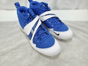 Nike Force Zoom Mike Trout 85Six Metal Mens Baseball Cleats Blue/White - Size 12