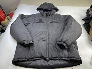 US Army Primaloft Gen-III Extreme Cold Weather Parka Jacket Hood Black Men's 2XL
