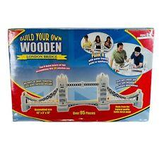 Build Your Own Wooden London Bridge Kit 95 Pieces 42x3x13� Nos Baltic Birch
