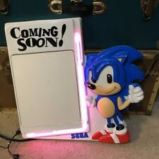 "Rare Vintage SEGA Sonic The Hedgehog ""Coming Soon!"" Dry Erase Board Neon Sign"