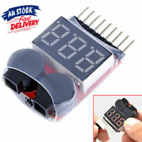 Lipo Battery Tester RC Indicator LED AZ Checker Low Voltage Buzzer 1-8S Alarm