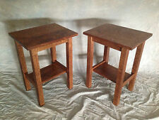 Mission Oak Rustic Hand Hewn End Stand Free Shipping