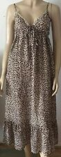 NEXT Animal Print Sequin V-Neck Calf Length Dress Size 10 New