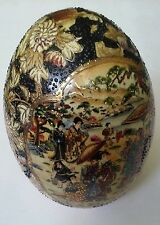 "Vintage Large HAND PAINTED CHINESE EGG 6 1/2"" x 4"""