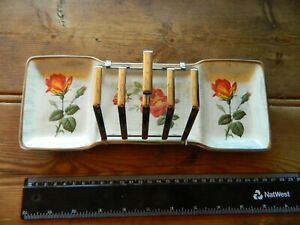 do5 MIDWINTER STYLE CRAFT vintage toast rack marmalade butter sections lovely