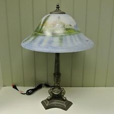 Kaldun & Bogle Glass Bay Scene Table Lamp