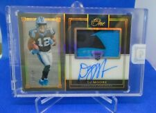 2018 Panini One Premium Rookie Patch Auto Gold DJ Moore Panthers #3/10