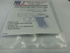 """Kel-Tec"" 32-380 left Hand Stainless Steel Belt Clip"