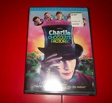 CHARLIE AND THE CHOCOLATE FACTORY DVD FULL SCREEN EDITION SEALED JOHNNY DEPP