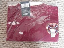 Hearts Football Shirt 08/09 Home Umbro XL Adult BNWT RRP £40