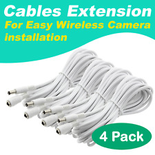 [4 Pack] Crystal Vision Premium HD Wireless Camera Power Extension