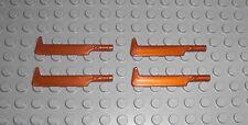 LEGO Herr der Ringe - 4x Schwert Uruk-Hai in KUPFER - Ork Orc Sword Waffe 10050