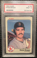 1983 Fleer WADE BOGGS Rookie PSA 9 Boston Red Sox Mint RC #179 HOF