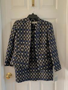 NWT Misses Kasper Skirt Suit Size 4 Black/Gray/Cobalt Blue, Free Shipping!