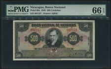 Nicaragua 1945, 500 Cordobas, P98a, PMG 66 EPQ GEM UNC