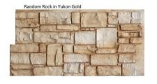"""Simulated Stone Panel 24""""H x 48""""W Random Rock in Yukon Gold by EasyRock"""