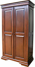 Solid Mahogany Louis Philippe 2 door Double Sleigh Wardrobe ARM025L