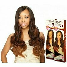 """MODEL MODEL EQUAL 5 pc Weave LUXE LONG HAIR 19"""". 20"""", 21"""", 22"""" 19"""" Closure"""