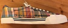 NEW! J. Crew Montauk Patchwork Madras Canvas Sneakers (Chuck Purcell style) RARE