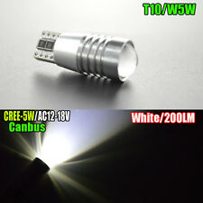 1pc 501 CANBUS CREE 5W LED Bombillas Xenon Super Blanco T10 W5W libre de errores SIDELIGHTS