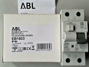 FI/LS-Schalter B16A 30mA 10 kA / Fi-Schalter Kombination B16A / RCBO