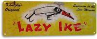 Lazy Ike Fishing Lure Fishing Fish Bait Marina Rustic Fish Metal Decor Sign