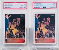 Investor Lot of (2) 1996-97 Topps #138 Kobe Bryant RC Rookie HOF PSA 9 MINT