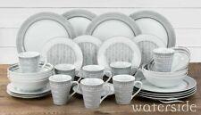 32 Piece Round Dinner Set Porcelain Crockery Dinner Side Plates Bowls Mugs Set