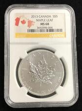 2013 Canada $5 Dollar 1 oz Silver Maple Leaf Coin NGC MS68 Graded B10b