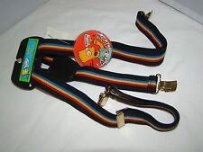 1990 Rare Bart Simpson The Simpsons Boy Suspenders with Badge New with Tags