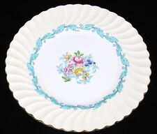 "Minton, S363, ARDMORE TURQUOISE, White Rim, 9"" Salad Plate"