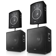 2.2 DJ PA SET ANLAGE BOXEN SUBWOOFER LAUTSPRECHER STUDIO KOMPLETTANLAGE 3200W