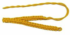 BRITISH-ARMY-OFFICER-DRESS-SHOULDER-CORD-LANYARD-YELLOW SILK Shoulder lanyard WW