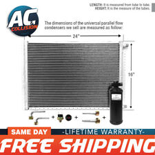 CNFP1624KT Kit AC A/C Universal Condenser Parallel Flow 16 x 24 with Drier