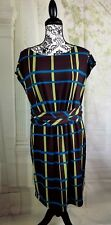 Simply Chloe Dao womens sleeveless stretch dress check print size m b17