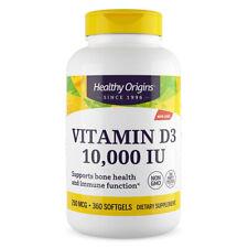 Healthy Origins Vitamina D-3 10000 IU - 360 softgels - Vitamina D3 10.000 10,000