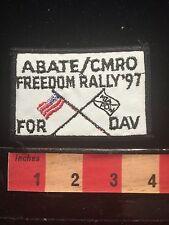 ABATE CMRO FREEDOM RALLY 1997 Biker Motorcycle Patch American Flag MIA POW 66E0