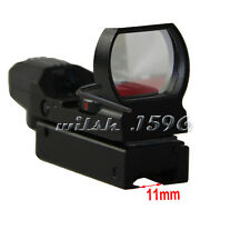 Hunting Tactical 11mm Holographic 1x22x33 Reflex Red Green Dot Sight Scope
