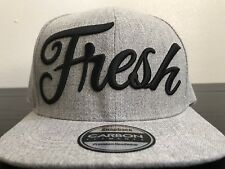 Fresh Spellout Grey SnapBack Cap Hat