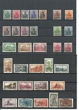 Saargebiet 1920, verschiedene komplette Sätze ex Minrn. 18 - 194 o, gestempelt o