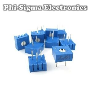 5 Pack - 3386 Cermet Potentiometers (Variable Resistors/Preset/Trimmer/Pot)