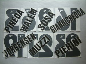KIT NOME+NUMERO UFFICIALE UDINESE HOME/AWAY 1998-1999 OFFICIAL NAMESETS PL SZ