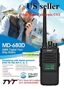 New TYT MD-680D IP67 waterproof DMR/Analog Radio UHF400-470            US seller