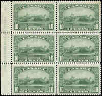 1935 Mint NH Canada BLOCK of 6 F+ Scott #215 10c KGV Silver Jubilee Stamps