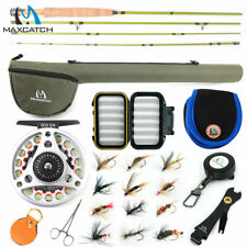 Maxcatch 1/2/3wt Ultra-Lite Fly Rod Combo for Stream River Panfish/Trout Fishing