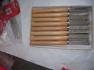 AMTECH 8Pcs Pro Wood Turning Lathe Chisel Set Gouges Carving Carpentry Tool