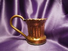 Handcrafted Hammered Copper Metal Cup W/ Handle