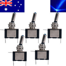 5x Blue LED Toggle Switch Car Boat Truck ATV Auto DC Neon 12V 20A ON/OFF SPST