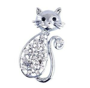 STUNNING LITTLE CUTE  CAT BROOCH PIN BRAND NEW & BOXED